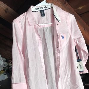 Tops - NWT US Polo Pink Button Down